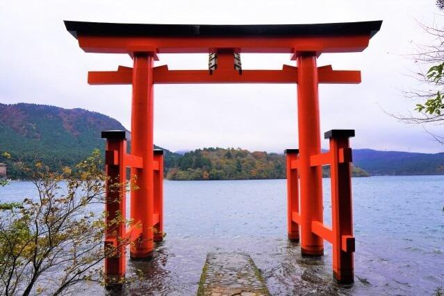 箱根神社を英語で説明